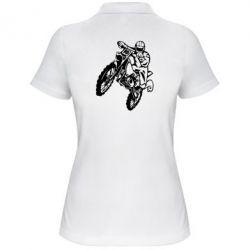 Женская футболка поло Кроссовый байк - FatLine