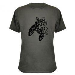 Камуфляжная футболка Кроссовый байк - FatLine