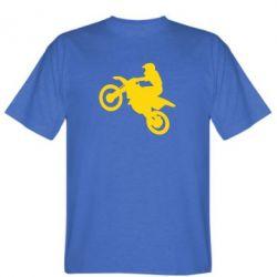 Мужская футболка Кроссовый мотоцикл