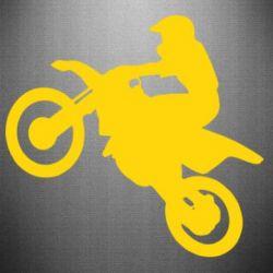 Наклейка Кроссовый мотоцикл