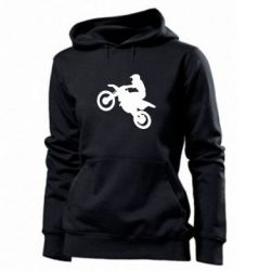 Женская толстовка Кроссовый мотоцикл