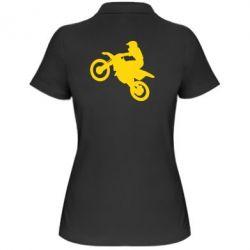 Женская футболка поло Кроссовый мотоцикл