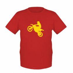 Детская футболка Кроссовый мотоцикл - FatLine