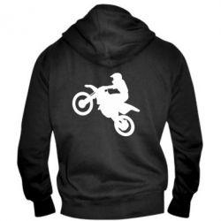 Мужская толстовка на молнии Кроссовый мотоцикл - FatLine