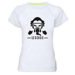 Жіноча спортивна футболка кривава шукач