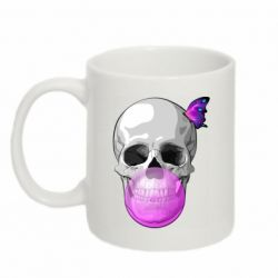 Кружка 320ml Butterfly on the skull