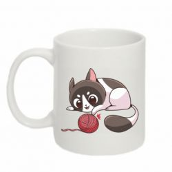 Кружка 320ml Cat with a ball