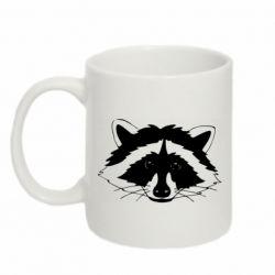 Кружка 320ml Cute raccoon face