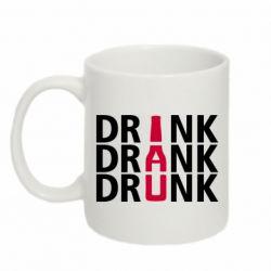 Кружка 320ml Drink Drank Drunk