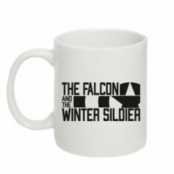 Кружка 320ml Falcon and winter soldier logo