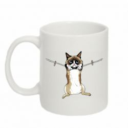 Кружка 320ml Grumpy Cat On The Rope