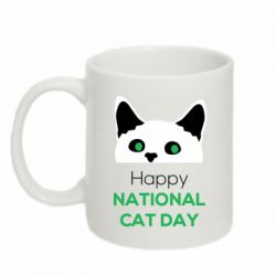 Кружка 320ml Happy National Cat Day