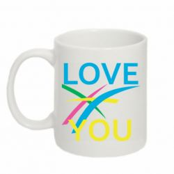 Кружка 320ml Love You Abstract Lines