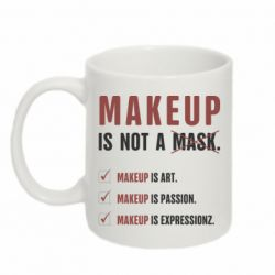 Кружка 320ml Make Up Is Not A Mask