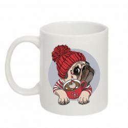 Кружка 320ml Pug And Coffee