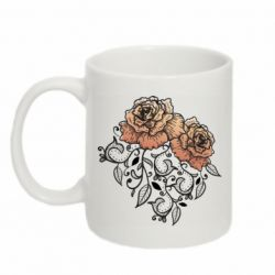 Кружка 320ml Roses with patterns