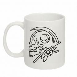 Кружка 320ml Skull with scythe