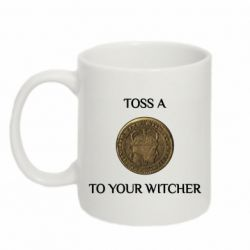 Кружка 320ml Toss a coin to your witcher ( орен )