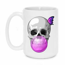 Кружка 420ml Butterfly on the skull