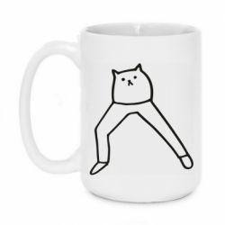 Кружка 420ml Cat in pants