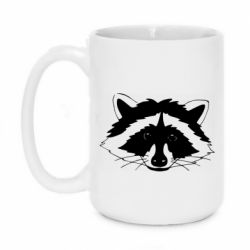 Кружка 420ml Cute raccoon face