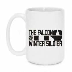 Кружка 420ml Falcon and winter soldier logo