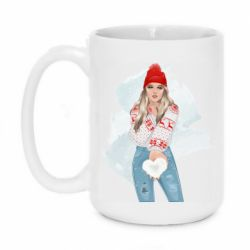 Кружка 420ml Girl in a red sweater