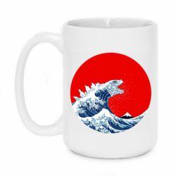 Кружка 420ml Godzilla Wave