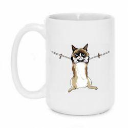 Кружка 420ml Grumpy Cat On The Rope