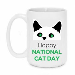Кружка 420ml Happy National Cat Day