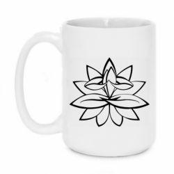 Кружка 420ml Lotus yoga