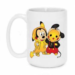 Кружка 420ml Mickey and Pikachu
