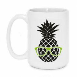 Кружка 420ml Pineapple with glasses