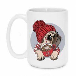 Кружка 420ml Pug And Coffee