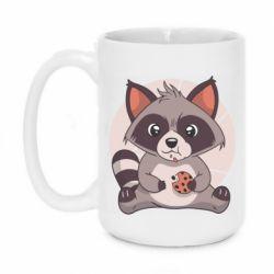 Кружка 420ml Raccoon with cookies
