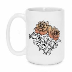 Кружка 420ml Roses with patterns