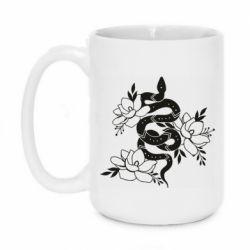 Кружка 420ml Snake with flowers