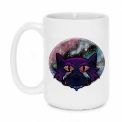 Кружка 420ml The cat is crying against the backdrop of space