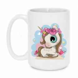 Кружка 420ml Unicorn with flowers