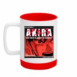 Кружка кольорова з силіконовим дном 320ml Akira