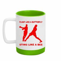 Кружка кольорова з силіконовим дном 320ml Ali: Float Like A Butterfly