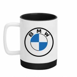 Кружка кольорова з силіконовим дном 320ml BMW logo 2020
