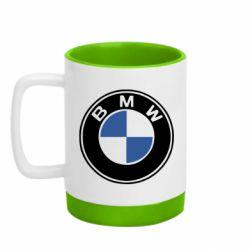Кружка кольорова з силіконовим дном 320ml BMW
