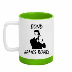 Кружка кольорова з силіконовим дном 320ml Bond  James Bond