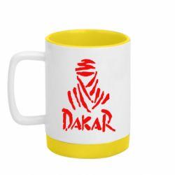 Кружка кольорова з силіконовим дном 320ml Dakar