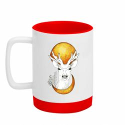 Кружка кольорова з силіконовим дном 320ml Deer and moon