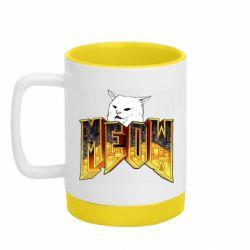 Кружка кольорова з силіконовим дном 320ml Doom меов cat