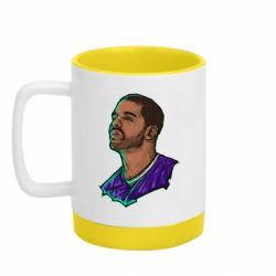Кружка кольорова з силіконовим дном 320ml Drake