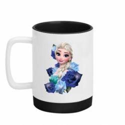 Кружка кольорова з силіконовим дном 320ml Elsa and roses