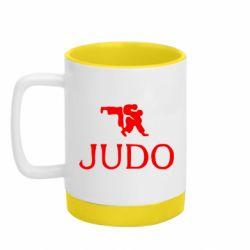 Кружка кольорова з силіконовим дном 320ml Judo